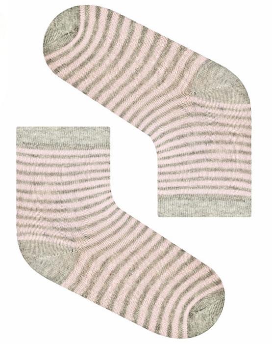 Носки для девочки Idilio, цвет: серый, розовый. SG23. Размер 27/29SG23Комфортные носки для девочек с добавлением экологически чистого хлопка, изготовленные без применения химических красителей.