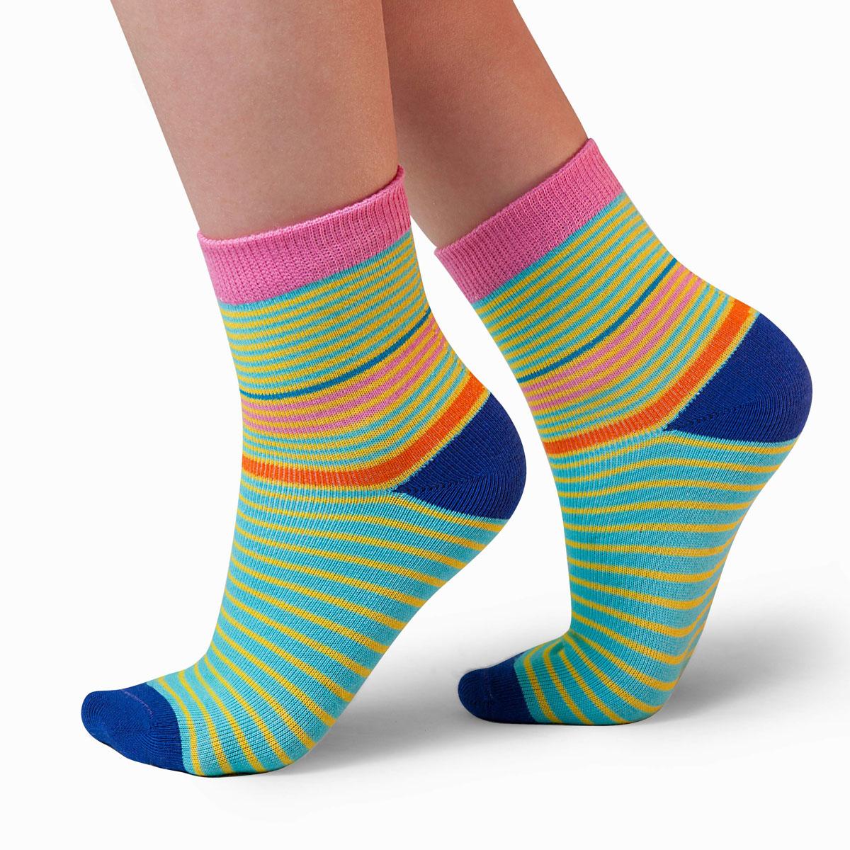 Носки для девочки Idilio, цвет: синий. SG11. Размер 27/29