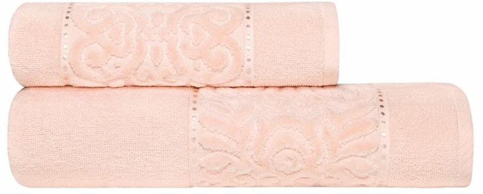Набор банных полотенец Estia Алисия, цвет: розовый, 2 шт