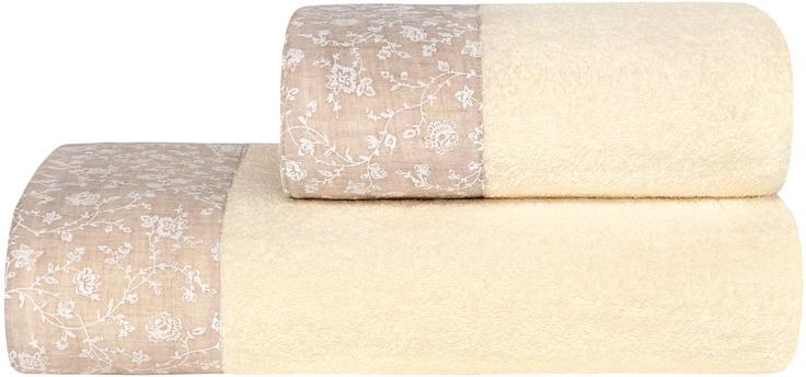 Банное полотенце Estia выполнено из100% хлопка. Изделие отлично впитывает влагу, быстро сохнет, сохраняет яркость цвета и не теряет форму даже после многократных стирок. Плотность ткани 400 гр/м2.  Такое полотенце очень практично и  неприхотливо в уходе.