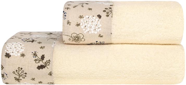 Полотенце банное Estia Прованс, цвет: экрю, 70 х 140 см полотенце банное pupilla lamond dray 70 140 см