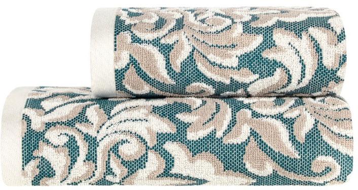 Полотенце банное Estia Альгамбра, цвет: бежевый, синий, 70 х 130 см99.54.50.0046Банное полотенце Estia выполнено из100% хлопка. Изделие отлично впитывает влагу, быстро сохнет, сохраняет яркость цвета и не теряет форму даже после многократных стирок. Плотность ткани 500 гр/м2.Такое полотенце очень практично инеприхотливо в уходе.