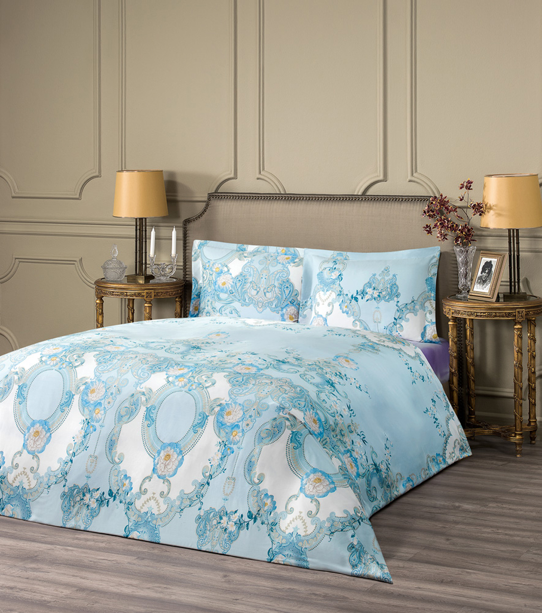 Комплект белья Estia Джардини, евро, наволочки 50x70, цвет: голубой99.57.41.0012Комплект белья Estia Джардини из эвкалиптового волокна наполнит вашу спальню уютом и красотой. Комплект приятен на ощупь и не капризен вуходе. ESTIA - бренд домашнего текстиля группы компаний Togas. Основанная в 1926 году в Греции предпринимателем Илиасом Тогасом, компанияодна из первых применила новаторские методы пошива и декорирования постельного белья и заслужила репутацию ведущего эксперта втекстильном деле. Верность семейным традициям качества и новаторский дух - главные слагаемые успеха Togas, чьи достижения изменилиоблик современной текстильной промышленности и наши представления о комфорте. ESTIA - это итальянская классика, где винтажный стиль и щедрое использование аутентичных элементов декора дополняются высокимкачеством тканей.Все это, а также исключительная практичность и простота в эксплуатации делают продукцию бренда эталоном современного комфорта.Если вы искали совершенства - вы его нашли: ESTIA - это настоящее украшение, которое преобразит не только ваш интерьер, но и вашу жизнь.
