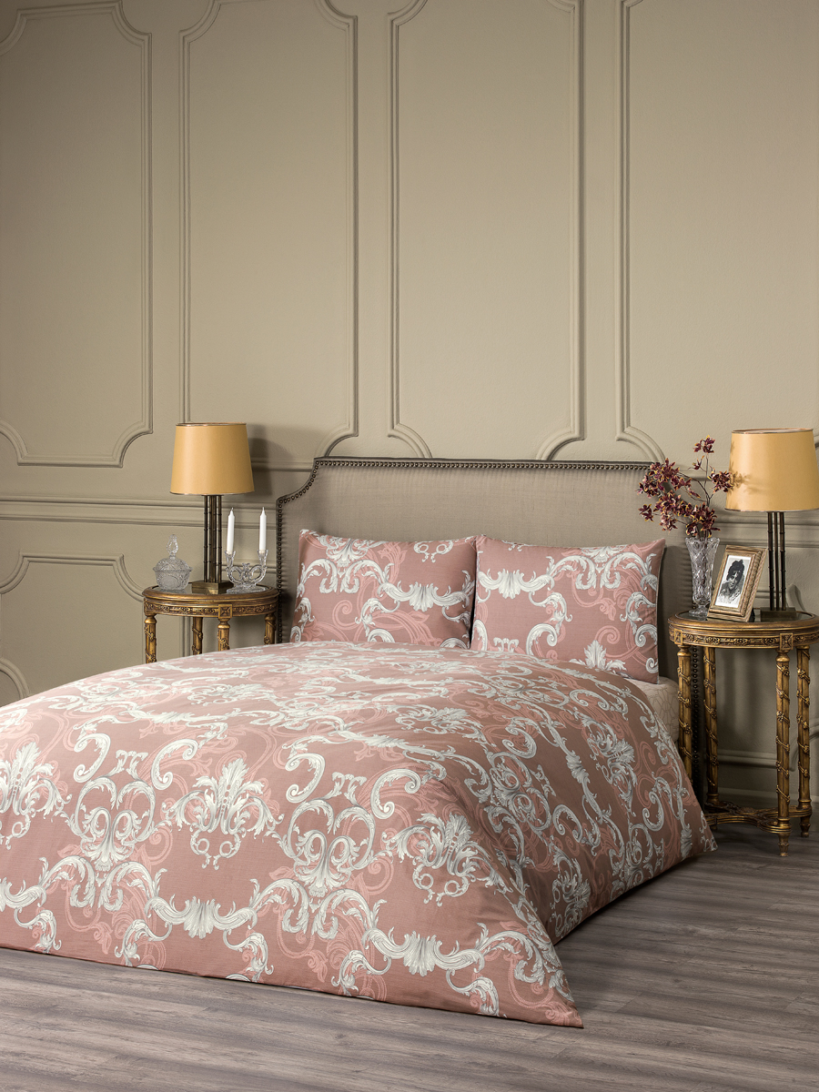 Комплект белья Estia Беллано, 1,5-спальный, наволочки 50x70, цвет: коричневый комплект белья estia беллано семейный наволочки 50x70 цвет коричневый