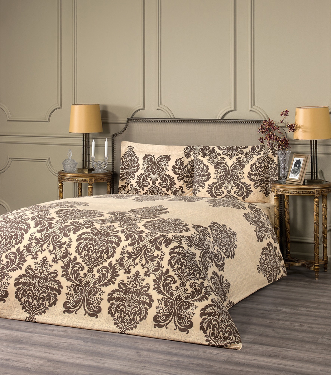 Комплект белья Estia Монрале из эвкалиптового волокна наполнит вашу спальню уютом и красотой. Комплект приятен на ощупь и не капризен в  уходе.   ESTIA - бренд домашнего текстиля группы компаний Togas. Основанная в 1926 году в Греции предпринимателем Илиасом Тогасом, компания  одна из первых применила новаторские методы пошива и декорирования постельного белья и заслужила репутацию ведущего эксперта в  текстильном деле. Верность семейным традициям качества и новаторский дух - главные слагаемые успеха Togas, чьи достижения изменили  облик современной текстильной промышленности и наши представления о комфорте. ESTIA - это итальянская классика, где винтажный стиль и щедрое использование аутентичных элементов декора дополняются высоким  качеством тканей.  Все это, а также исключительная практичность и простота в эксплуатации делают продукцию бренда эталоном современного комфорта.  Если вы искали совершенства - вы его нашли: ESTIA - это настоящее украшение, которое преобразит не только ваш интерьер, но и вашу жизнь.