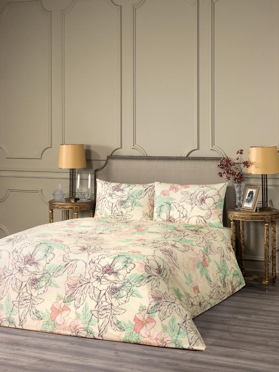 Комплект белья Estia Фьюджи, 1,5-спальный, наволочки 50x70, цвет: бежевый99.57.20.0015Комплект белья Estia Фьюджи наполнит вашу спальню уютом и красотой. Комплект приятен на ощупь и не капризен вуходе. ESTIA - бренд домашнего текстиля группы компаний Togas. Основанная в 1926 году в Греции предпринимателем Илиасом Тогасом, компанияодна из первых применила новаторские методы пошива и декорирования постельного белья и заслужила репутацию ведущего эксперта втекстильном деле. Верность семейным традициям качества и новаторский дух - главные слагаемые успеха Togas, чьи достижения изменилиоблик современной текстильной промышленности и наши представления о комфорте. ESTIA - это итальянская классика, где винтажный стиль и щедрое использование аутентичных элементов декора дополняются высокимкачеством тканей.Все это, а также исключительная практичность и простота в эксплуатации делают продукцию бренда эталоном современного комфорта.Если вы искали совершенства - вы его нашли: ESTIA - это настоящее украшение, которое преобразит не только ваш интерьер, но и вашу жизнь.