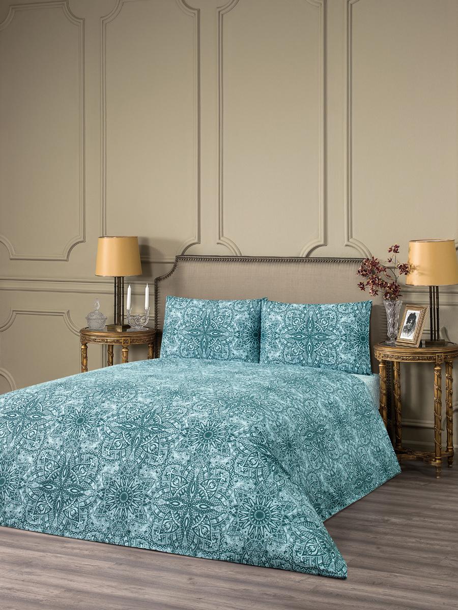 Комплект белья Estia Реджелло, семейный, наволочки 50x70, цвет: синий комплект белья estia беллано семейный наволочки 50x70 цвет коричневый