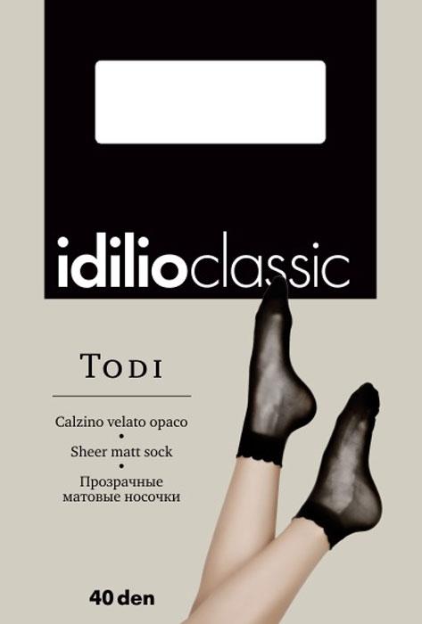Носки женские Idilio, цвет: Nero (черный). kw23. Размер универсальныйkw23Полупрозрачные носки 40 ден с комфортной резинкой.