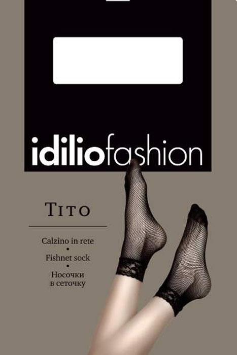 Носки женские Idilio, цвет: Nero (черный). kw25. Размер универсальныйkw25Полупрозрачные носки в сеточку с комфортной резинкой.