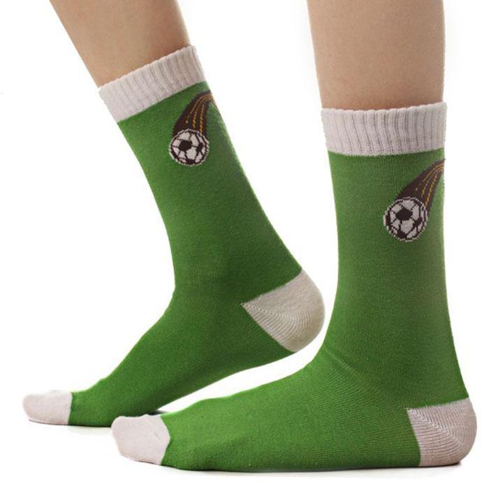 Носки для мальчика Idilio, цвет: зеленый. SB02. Размер 30/32SB02Комфортные носки для мальчиков с добавлением экологически чистого хлопка, изготовленные без применения химических красителей.