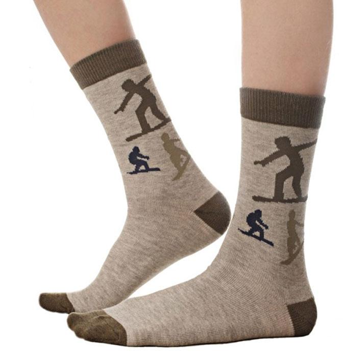 Носки для мальчика Idilio, цвет: серый, хаки. SB05. Размер 30/32