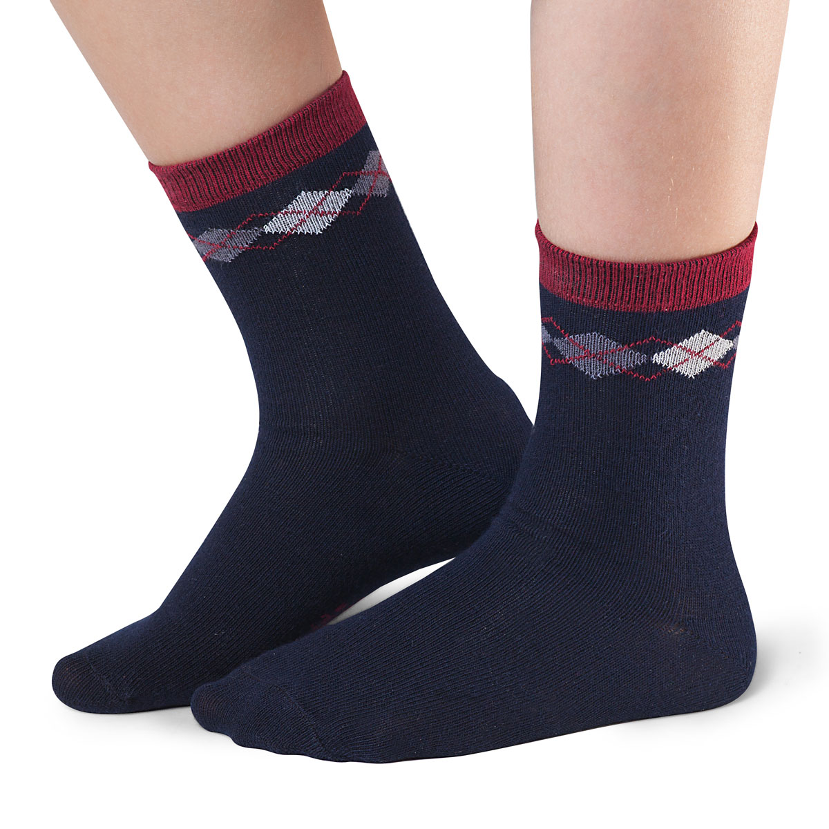 Носки для мальчика Idilio, цвет: синий. SB07. Размер 30/32SB07Комфортные носки для мальчиков с добавлением экологически чистого хлопка, изготовленные без применения химических красителей.
