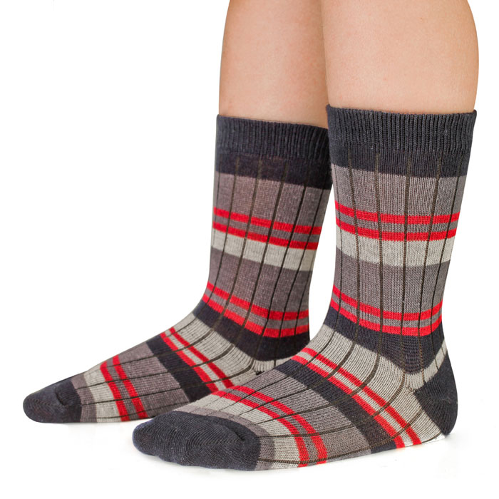 Носки для мальчика Idilio, цвет: синий, полоска. SB08. Размер 30/32SB08Комфортные носки для мальчиков с добавлением экологически чистого хлопка, изготовленные без применения химических красителей.