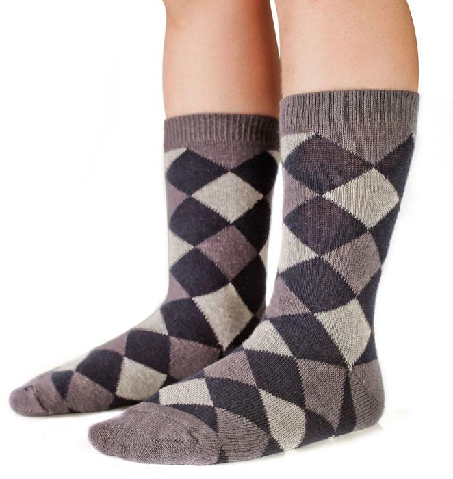 Носки для мальчика Idilio, цвет: серый. SB09. Размер 27/29SB09Комфортные носки для мальчиков с добавлением экологически чистого хлопка, изготовленные без применения химических красителей.