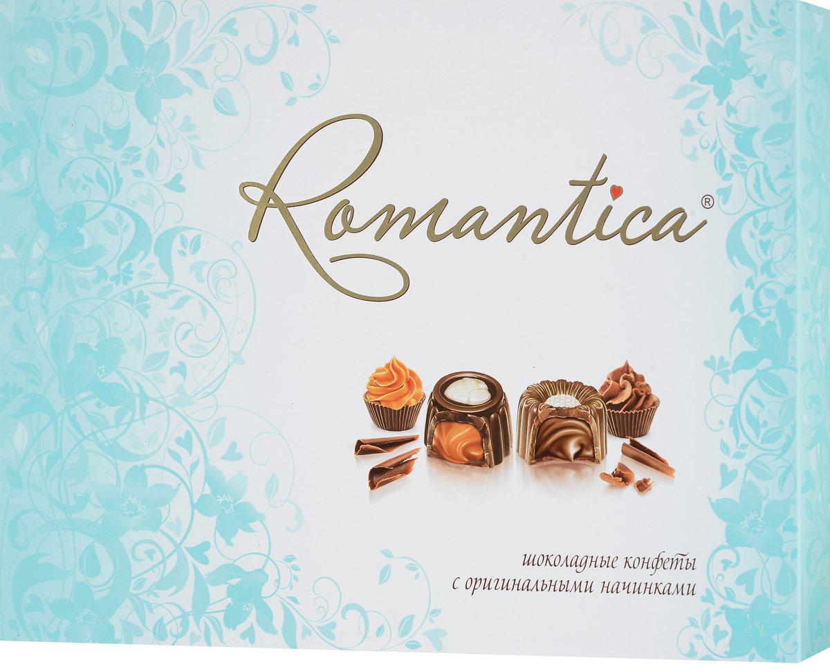 Славянка Romantica набор конфет, 320 г (бирюзовая упаковка) славянка romantica набор конфет 320 г бирюзовая упаковка