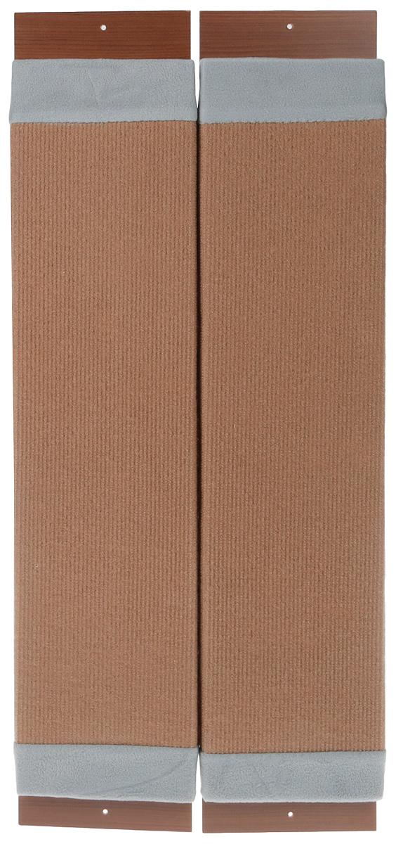 Когтеточка навесная Уют, угловая, ковролин, цвет: коричневый, серый, 72 х 17 х 5 см полка навесная сканд мебель шервуд пш 03