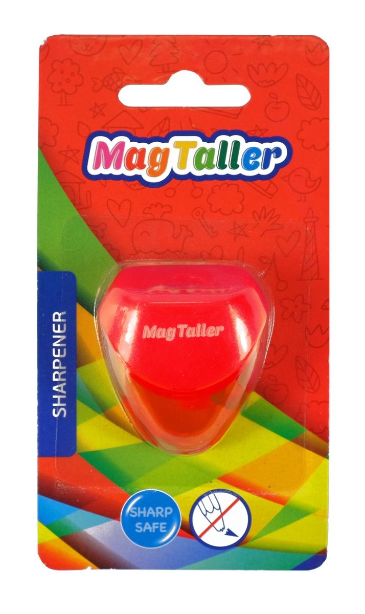 MagTaller Точилка Astia цвет красный herlitz точилка с контейнером и ластиком цвет голубой зеленый красный