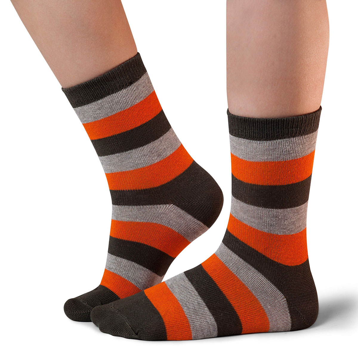 Носки для мальчика Idilio, цвет: темно-зеленый, оранжевый. SB19. Размер 30/32SB19Комфортные носки для мальчиков с добавлением экологически чистого хлопка, изготовленные без применения химических красителей.