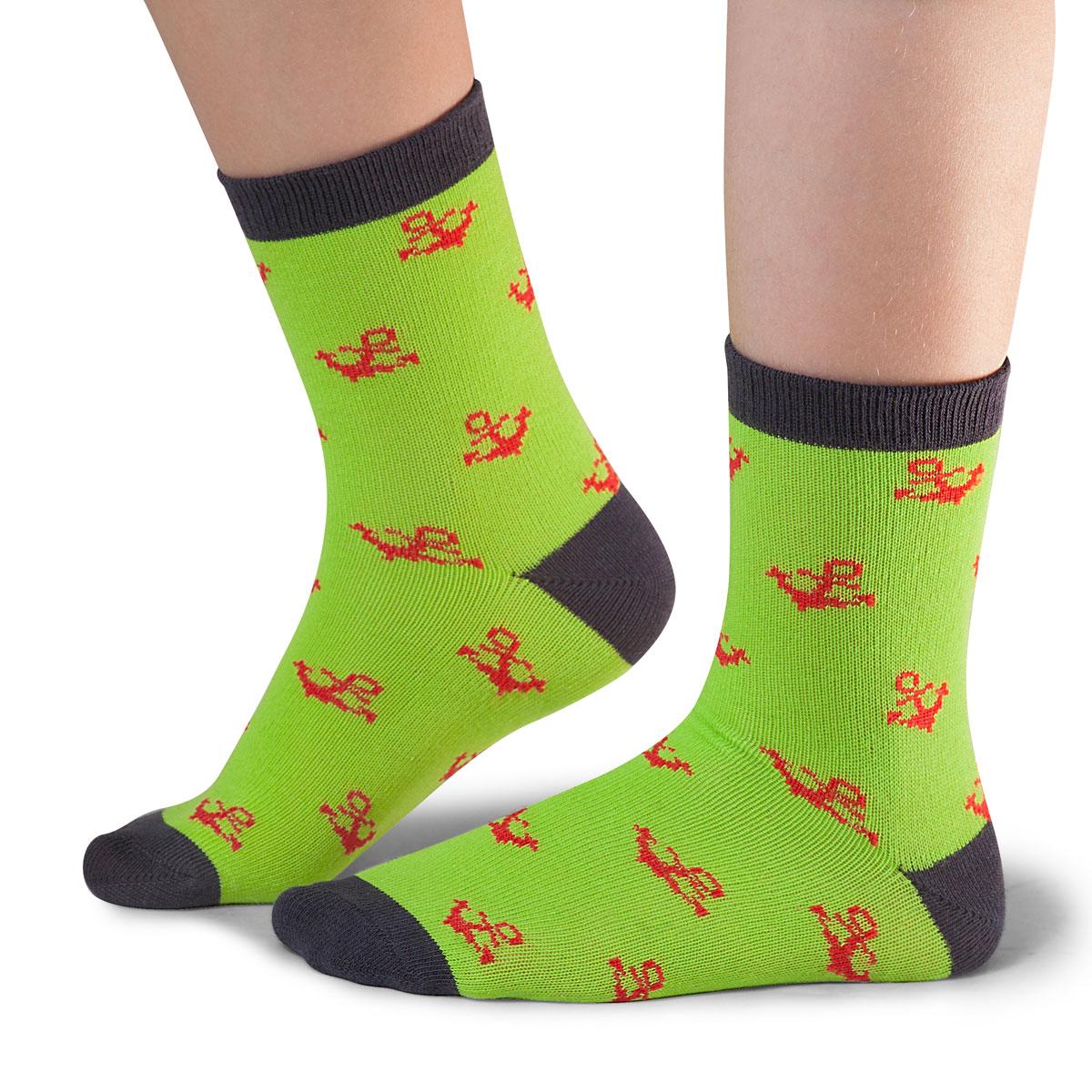 Носки для мальчика Idilio, цвет: зеленый. SB21. Размер 30/32SB21Комфортные носки для мальчиков с добавлением экологически чистого хлопка, изготовленные без применения химических красителей.