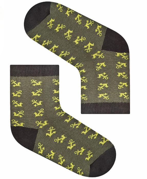 Носки для мальчика Idilio, цвет: темно-зеленый. SB21. Размер 30/32