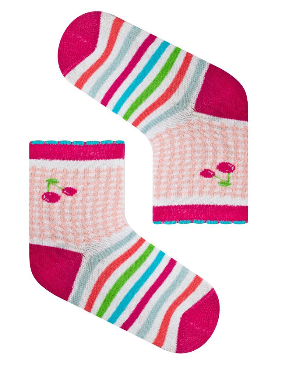 Носки для девочки Idilio, цвет: фуксия. SG07. Размер 27/29