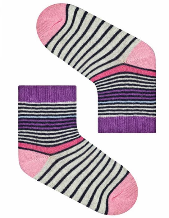 Носки для девочки Idilio, цвет: фиолетовый. SG11. Размер 27/29