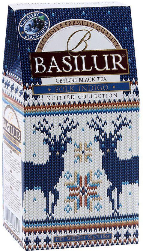 Basilur Folk Indigo черный листовой чай, 100 г basilur cream fantasy зеленый листовой чай 100 г жестяная банка