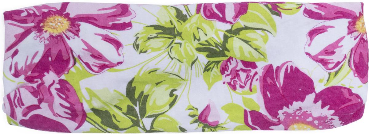 Бандана для девочки PlayToday, цвет: белый, розовый, зеленый. 188871. Размер 40/44188871
