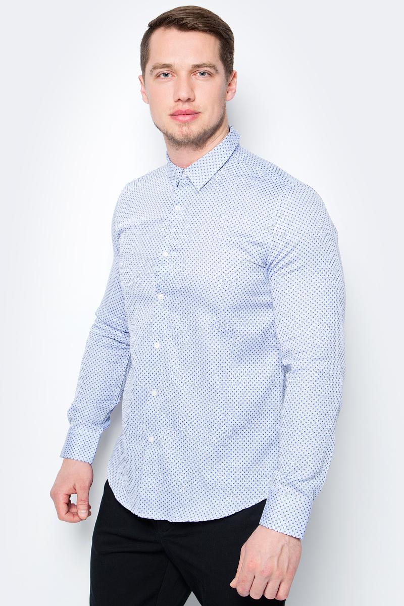 Купить Рубашка мужская United Colors of Benetton, цвет: голубой. 5WZ85QF98_903. Размер XS (44/46)