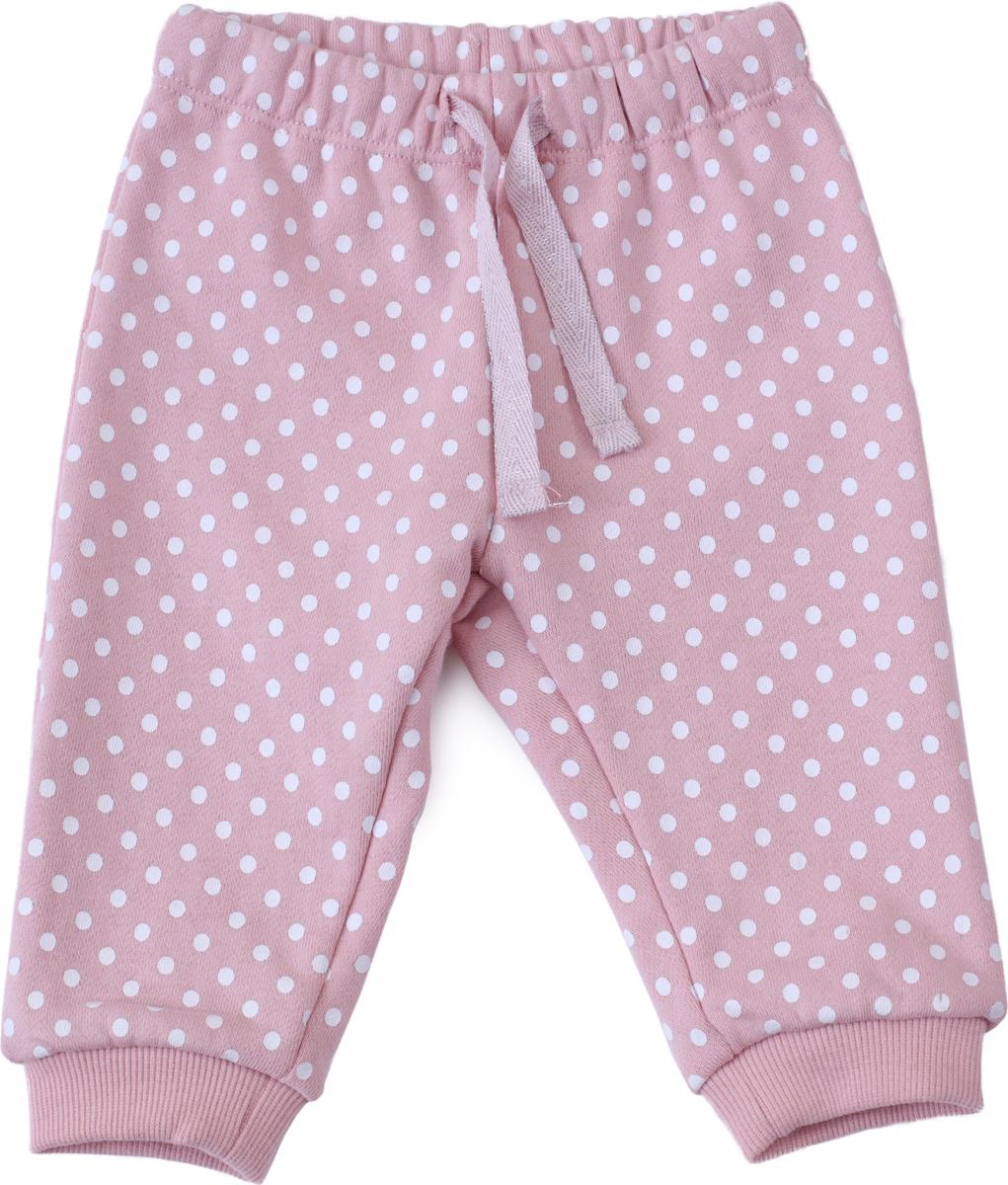 Брюки для девочки PlayToday, цвет: светло-розовый. 188805. Размер 80188805