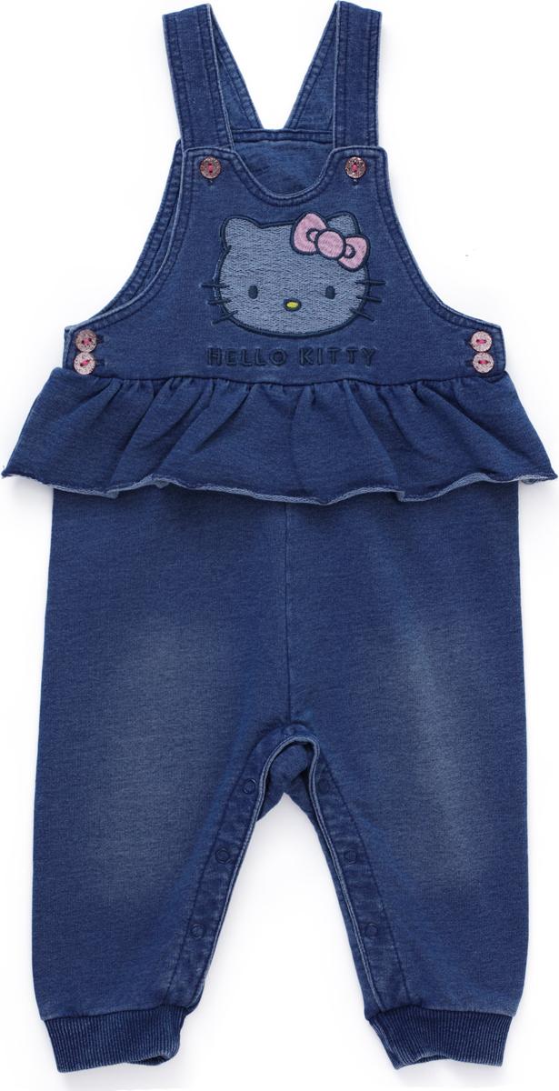 Полукомбинезон для девочки PlayToday, цвет: синий. 688807. Размер 74