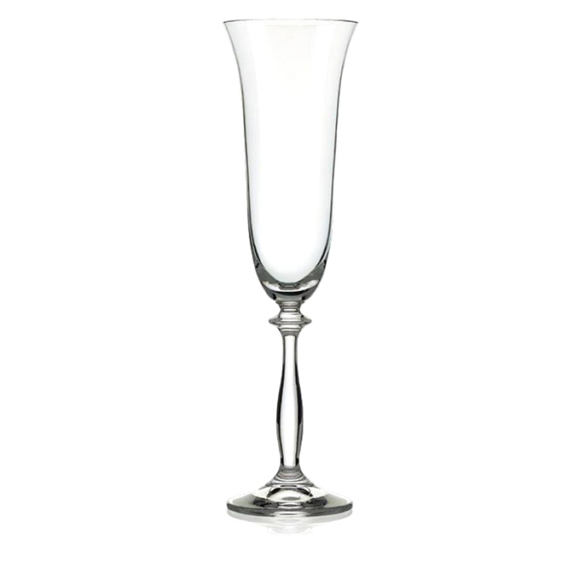 Набор бокалов для шампанского Bohemia Crystal Анжела, 190 мл, 6 шт. 40600/Opt/190 bohemia crystal набор бокалов для шампанского felina 25 см 2 шт