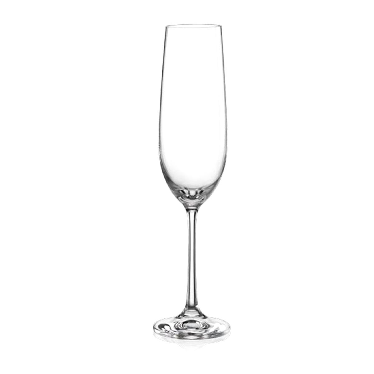 Набор бокалов для шампанского Bohemia Crystal Виола, 190 мл, 6 шт. 40729/190 набор бокалов для шампанского bohemia crystal анжела 190 мл 6 шт 40600 q8997 190