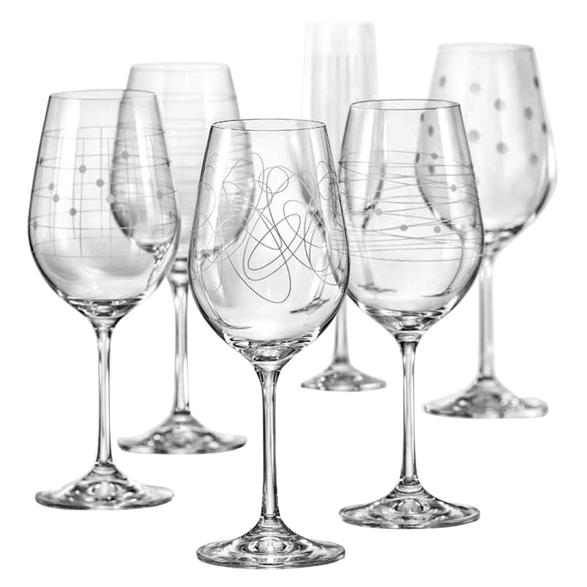 """Бокалы для вина Bohemia Crystal коллекции """"Виола"""" порадуют не только вас, но и ваших гостей. Они обладают привлекательным внешним видом, а материалом их изготовления является высококачественное хрустальное стекло. Кроме того, красоту бокала подчеркивает элегантная форма ножки. Объем бокала 450 мл. Количество в упаковке 6 шт."""