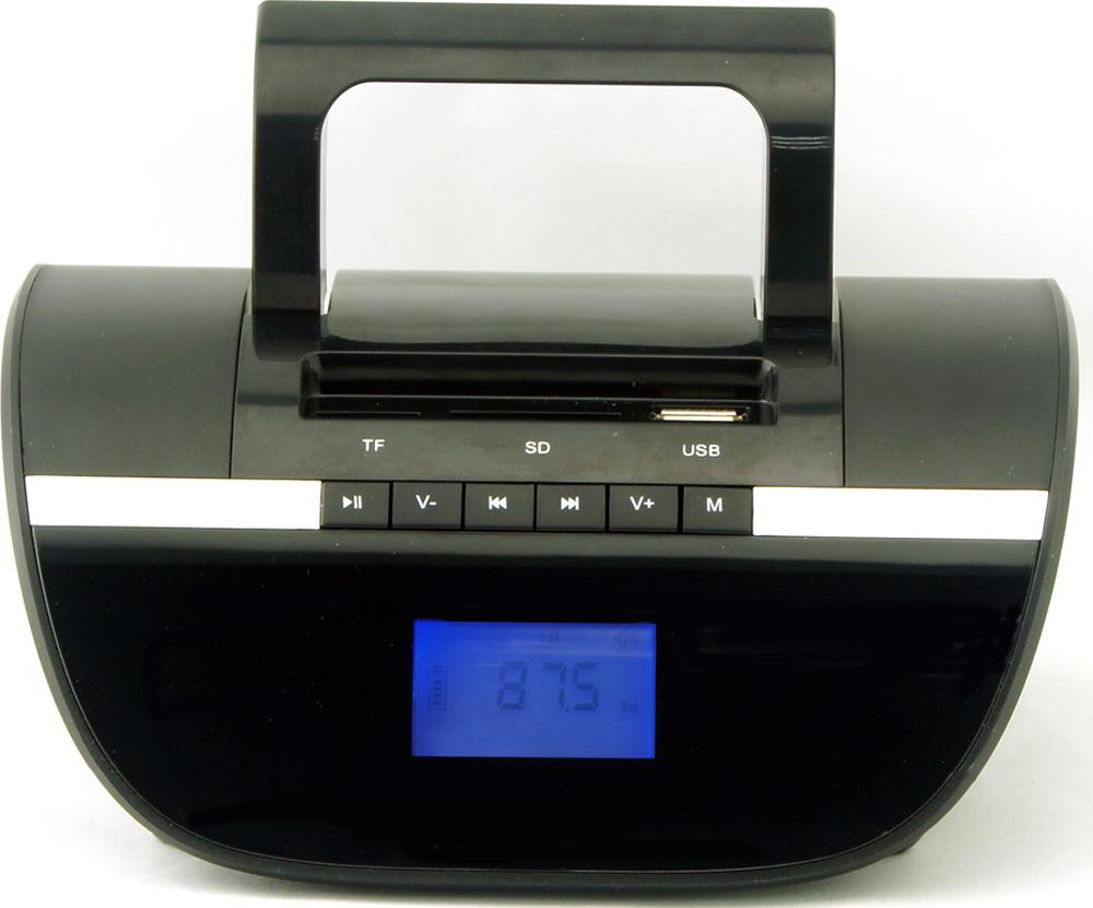 Supra BB-103UB магнитолаBB-103UBSupra BB-103UB - компактная и стильная магнитола, предназначенная для прослушивания музыки с флеш-карт, карт памяти формата SD/microSD объемом до 32 Гб и мобильных устройств. Она оборудована удобно расположенными входами USB и AUX, а также картридером.Модель оснащена цифровым радиоприемником, который работает в популярном диапазоне частот FM, а также удобной ручкой для переноски. Текущий режим работы отображается на информативном ЖК-дисплее, который имеет подсветку для удобства использования.Также имеются функции календаря и будильника. Устройство получает питание от встроенного Li-Ion аккумулятора, в котором достаточно энергии для длительной работы без подзарядки.