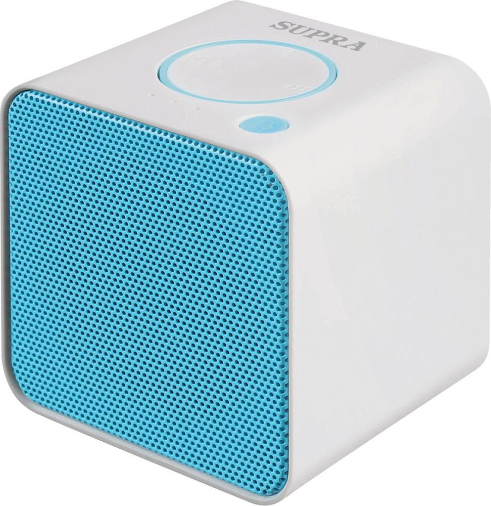 Supra BTS-628 портативная аудиосистемаBTS-628Портативная аудиосистема Supra BTS-628 позволит вам прослушивать любимые композиции везде, где бы вы ни находились. Колонка имеет поддержку технологии беспроводной связи Bluetooth, что позволит использовать в качестве источника звука любое устройство, оснащенное Bluetooth-интерфейсом, а также гаджеты iPad и iPhone. Дальность передачи беспроводного сигнала достигает 10 м.Модель оснащена встроенным FM-тюнером и поддерживает microSD-карты. Также устройство может подключаться при помощи AUX кабеля. Работает система от встроенного Li-Ion аккумулятора и может автономно воспроизводить звук в течение 2 ч. На корпусе имеются кнопки для управления воспроизведением.В комплект поставки аудиосистемы входят USB-кабель, необходимый для зарядки аккумулятора, и кабель с разъемами мини-джек.