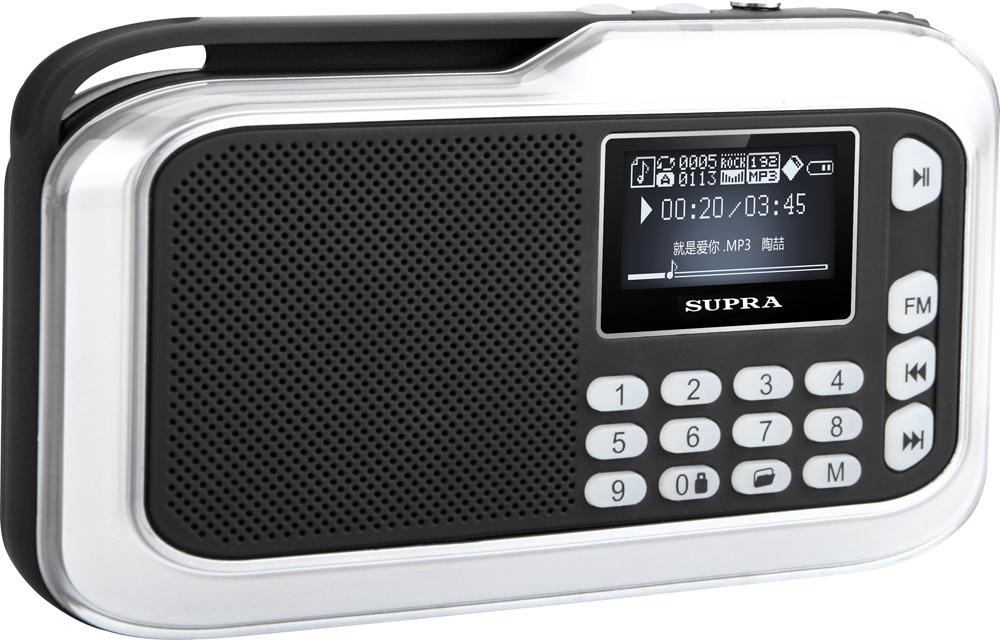 Supra PAS-3909, Silver портативная аудиосистема