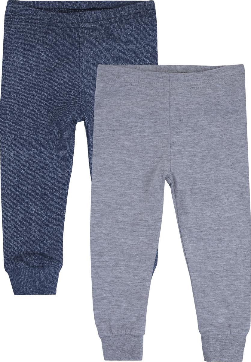 Брюки для мальчика PlayToday, цвет: синий, светло-серый, 2 шт. 187858. Размер 74 брюки для девочек playtoday 148076 р 74 80 см цвет зеленый