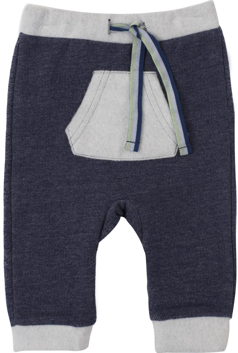 Брюки для мальчика PlayToday, цвет: синий, серый. 187811. Размер 80187811