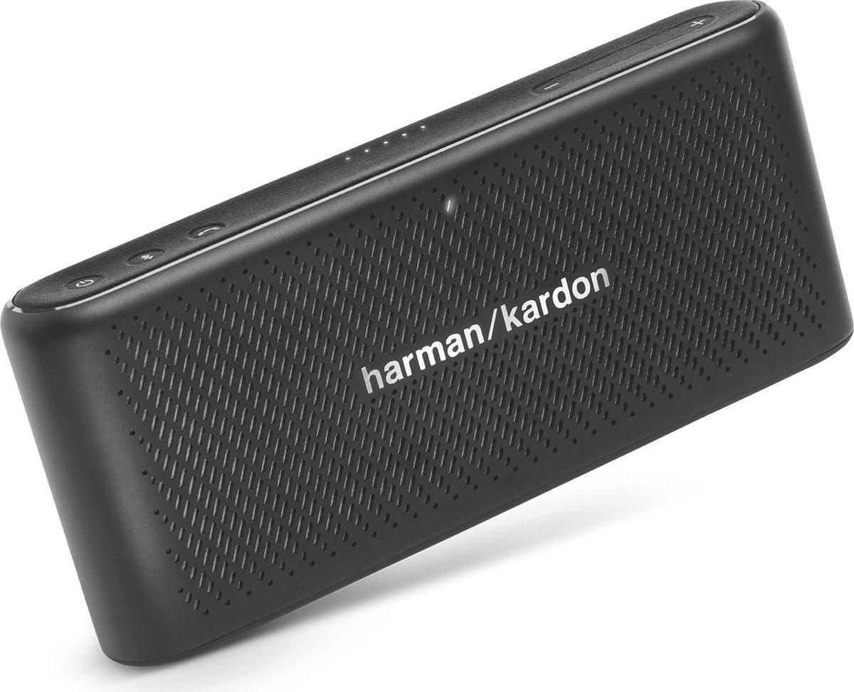 Harman Kardon Traveler, Black портативная акустическая системаHKTRAVELERBLKДинамики Harman Kardon Traveler станут идеальным спутником в командировках. Они оснащены функцией передачи потоковых данных по Bluetooth, конференц-системой связи с 2 микрофонами, эхо- и шумоподавлением, а также зарядным устройством, которым можно пользоваться в дороге. В этом шедевре из высококачественных материалов в элегантном, цельном алюминиевом корпусе все продумано до мелочей. Функционал и тонкий и элегантный корпус делает эти динамики вашим незаменимым спутником. Носите их с собой везде в футляре для переноски, который входит в комплект.