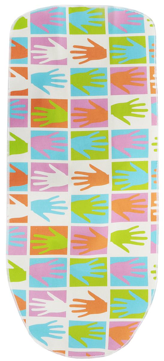 Чехол для гладильной доски Attribute Express, цвет: мультиколор, 140 х 60 смABE105_мультиколор, рукиЧехол для гладильной доски Attribute Express, цвет: мультиколор, 140 х 60 см