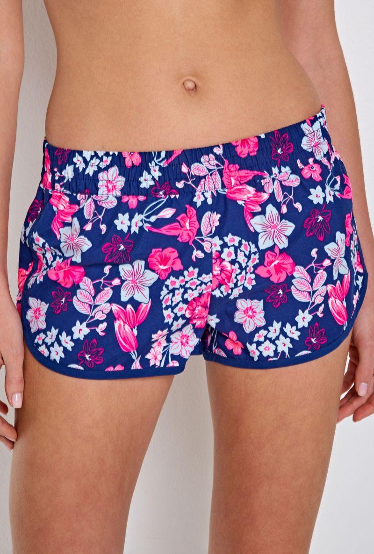 Шорты женские Infinity Lingerie Abomey, цвет: синий, розовый. 31200420017_9000. Размер XL (50) шорты shorts deha с цветочным принтом