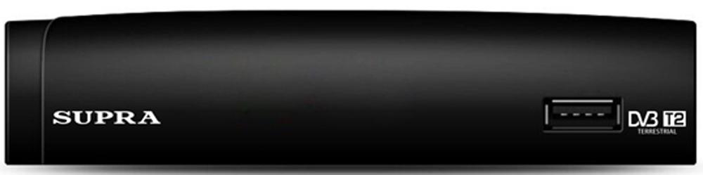 Supra SDT-97 телевизионная приставка DVB-T/T2SDT-97Телевизионная приставка DVB-T2/T Supra SDT-97 с функцией записи значительно расширит функционал вашего телевизора и позволит вам наслаждаться просмотром программ с максимальной четкостью изображения и богатой палитрой цветов.Особенности:Наличие FM-тюнера.Формат видео на выходе: 16:9, 4:3.Таймер записи.Режим отложенного просмотра.Запись телепередач на подключаемый носитель через USB-порт.Родительский контроль.Отображение субтитров и телетекста на русском языке.Возможность создания списка избранных программ.Телегид на 7 дней (EPG).Возможность автоматической и ручной настройки.Ускоренный и замедленный просмотр записанных программ с вариацией скорости (в 2, 4, 8 или 16 раз).Возможность контроля уровня и качества принимаемого сигнала.Синхронизация встроенных часов во время приема программ.Возможность обновления программного обеспечения.