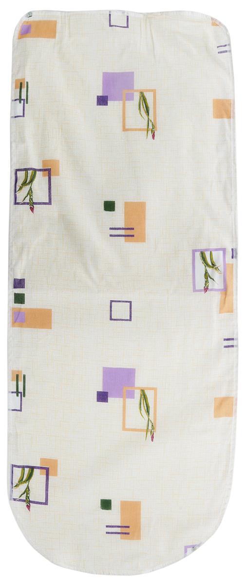 Чехол для гладильной доски Eva Ирис, цвет: бежевый, 125 х 47 смЕ13_ирисЧехол для гладильной доски Eva Ирис, цвет: бежевый, 125 х 47 см