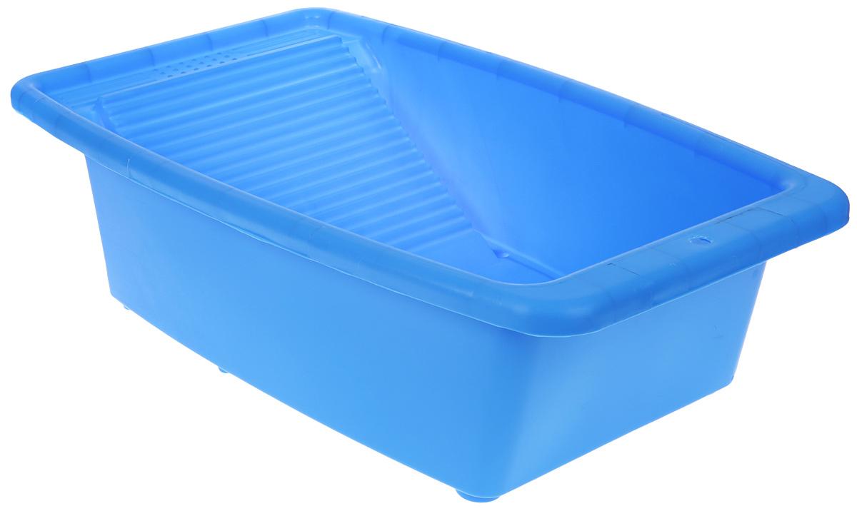 Таз со стиральной доской Коллекция, цвет: голубой, 34 лATP-42_голубойТаз со стиральной доской Коллекция, цвет: голубой, 34 л