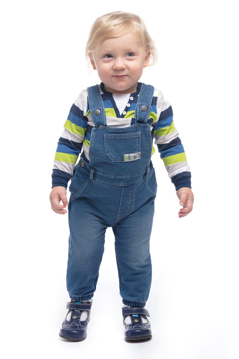 Полукомбинезон для мальчика PlayToday, цвет: темно-синий. 187805. Размер