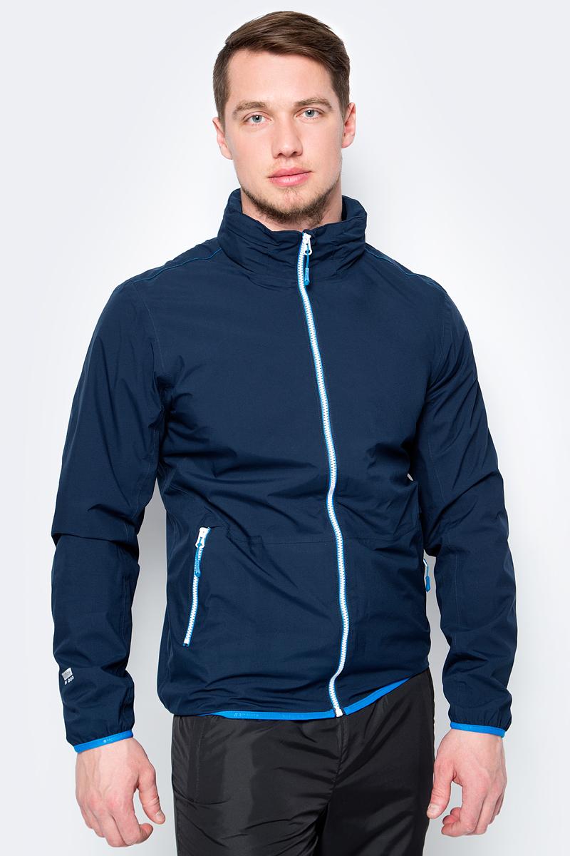 Куртка мужская Icepeak, цвет: темно-синий. 956234521IV_384. Размер 46956234521IV_384Легкая куртка от Icepeak выполнена из высококачественного материала. Модель с длинными рукавами и воротником-стойкой застегивается на молнию. По бокам куртка дополнена втачными карманами на молниях.