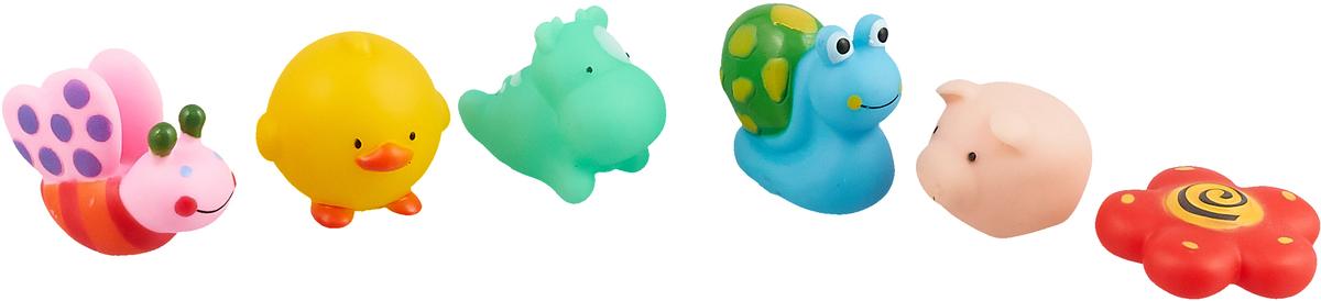 ABtoys Набор игрушек для ванной Веселое купание 6 шт PT-00350 mommy love набор игрушек для ванной морские чудеса 6 шт