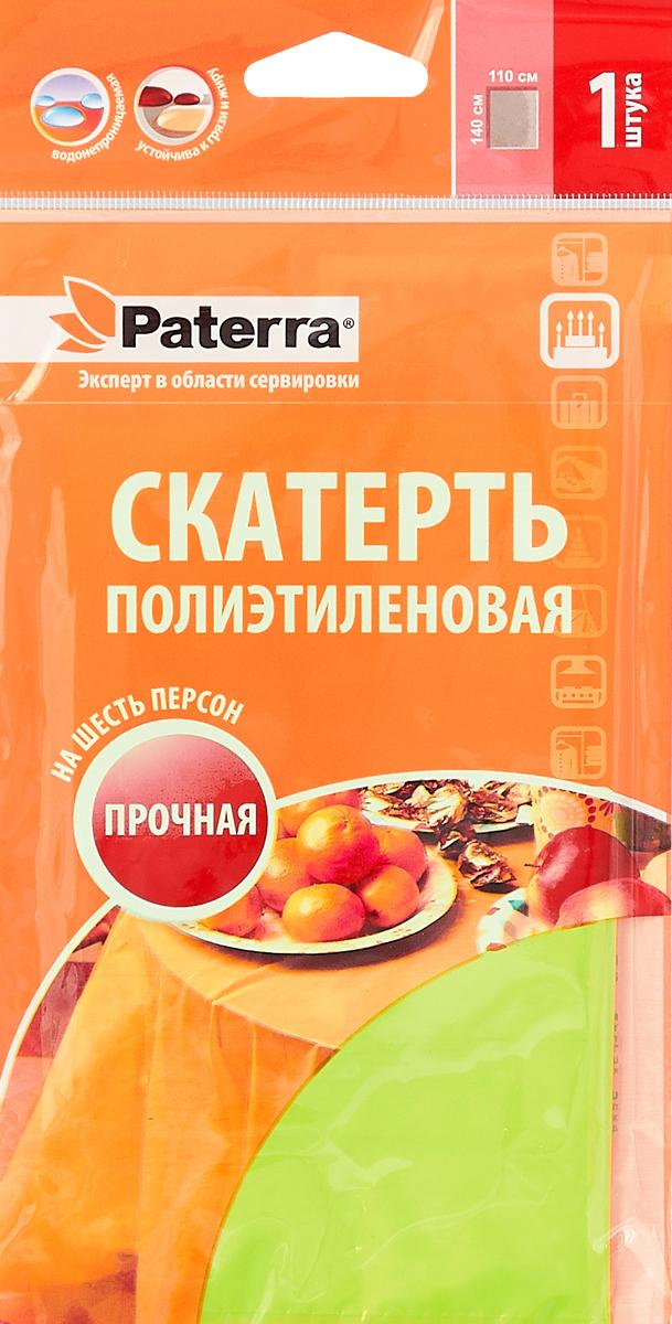 Скатерть Paterra, цвет: салатовый, 110 х 140 см402-400_салатовый