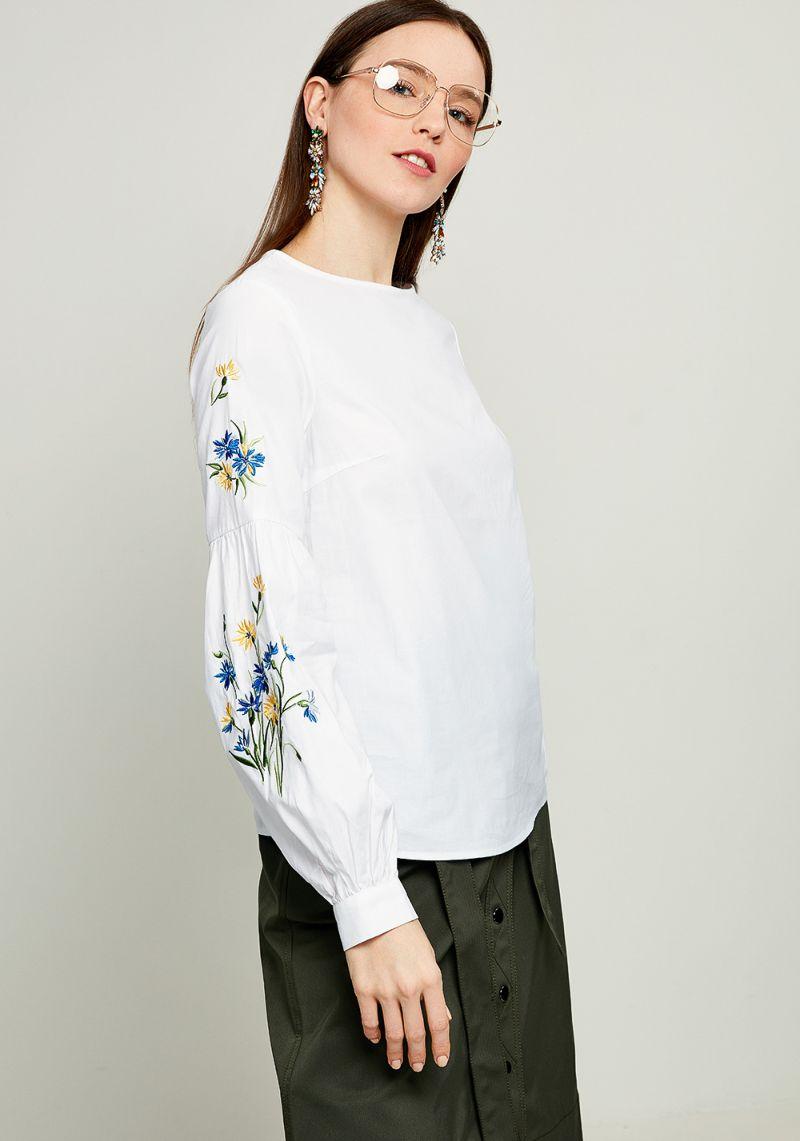 Блузка женская Zarina, цвет: белый. 8123098327093. Размер 46 блузка женская zarina цвет белый 8122093324004 размер 46